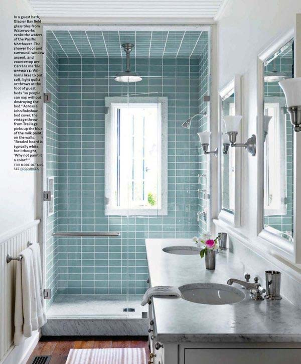 22 Extraordinary Creative Tips and Tricks That Will Enlarge Your Small Bathroom Design homesthetics decor ideas (11)