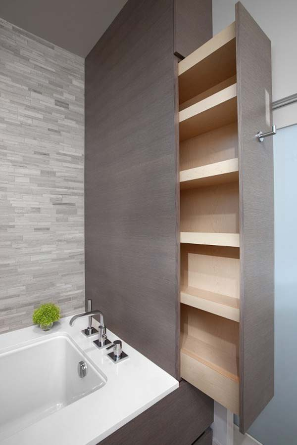 22 Extraordinary Creative Tips and Tricks That Will Enlarge Your Small Bathroom Design homesthetics decor ideas (16)