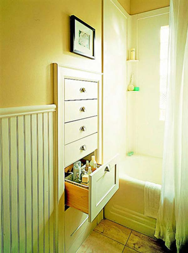 22 Extraordinary Creative Tips and Tricks That Will Enlarge Your Small Bathroom Design homesthetics decor ideas (21)