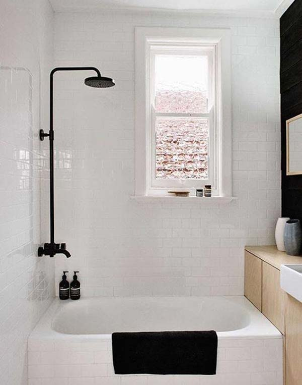 22 Extraordinary Creative Tips and Tricks That Will Enlarge Your Small Bathroom Design homesthetics decor ideas (6)