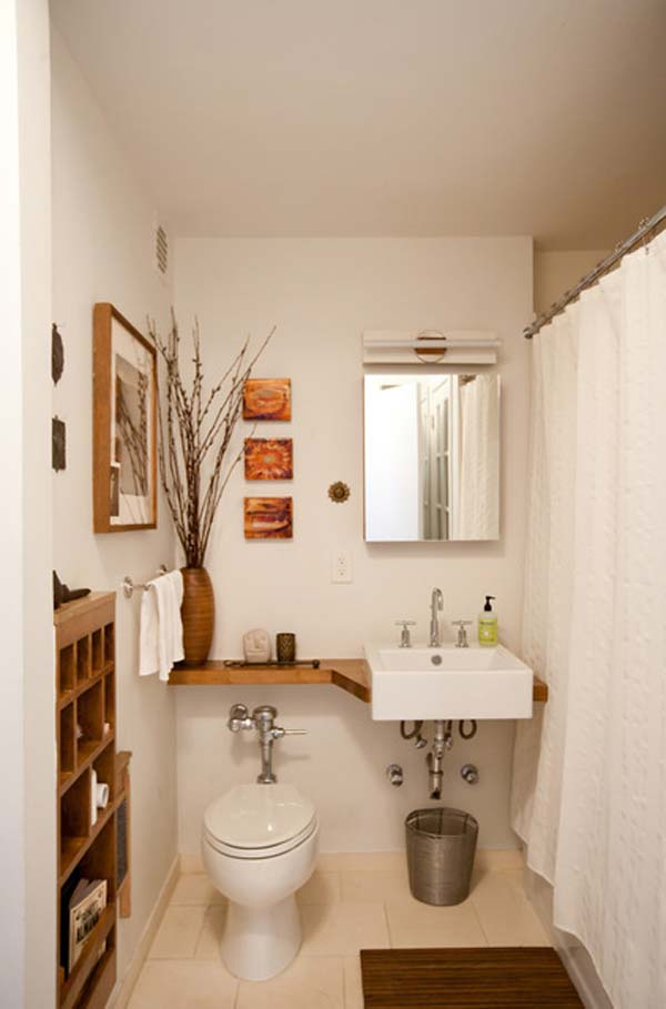 Perfect 22 Extraordinary Creative Tips And Tricks That Will Enlarge Your Small  Bathroom Design Homesthetics Decor Ideas
