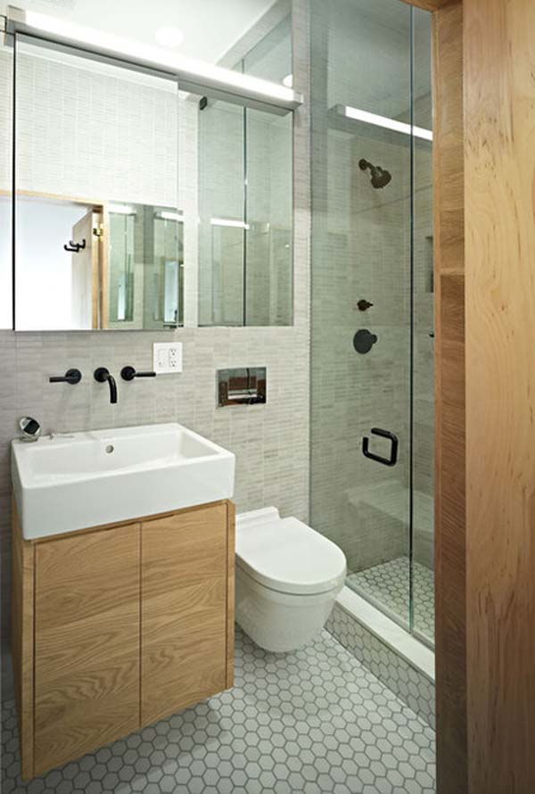 Image result for small bathroom ideas to make it look bigger