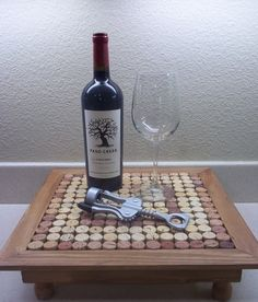 19. WINE CORK COFFEE TABLE