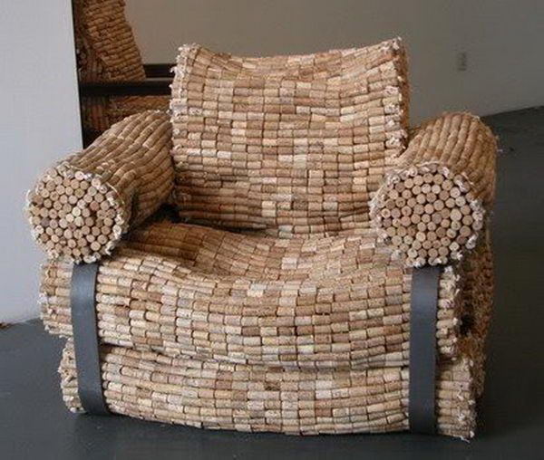 8. WINE CORK FURNITURE DESIGN
