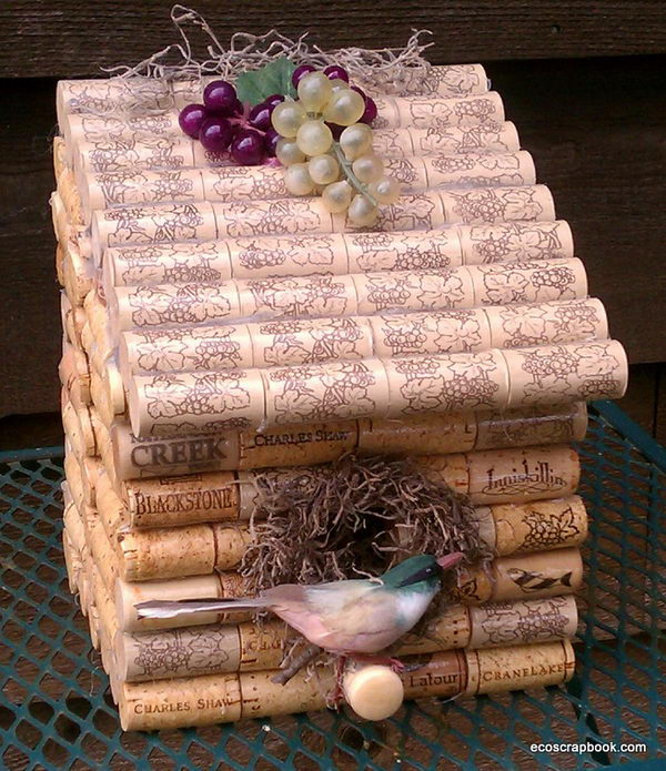 9.WINE CORK BIRD HOUSE
