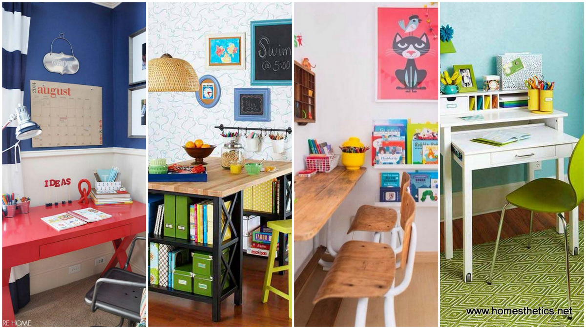 24 Beautifully Personalized Homework Stations For Children Infusing Creativity