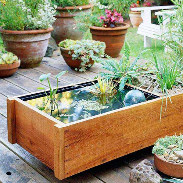 24 Fairy Tale Charming Low-Budget DIY Mini Ponds In Pots To Do homesthetics decor (13)