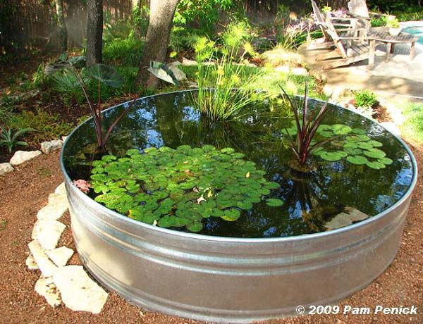 24 Fairy Tale Charming Low-Budget DIY Mini Ponds In Pots To Do homesthetics decor (8)
