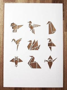 Origami Cutouts in a Thick Piece of Paper
