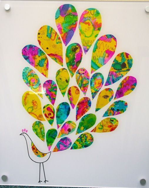 23 simply brilliant diy paper wall art projects that will for Painting ideas for 4 year olds