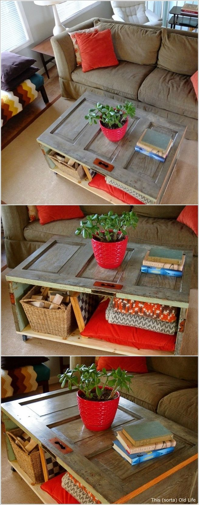 17. A Small Coffee Table Can Add Color And Contrast To Any Interior Design