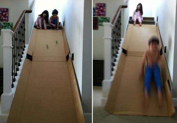 27 Ideas on How to Use Cardboard Boxes for Kids Games and Activities DIY Projects homesthetics diy cardboard projects (11)