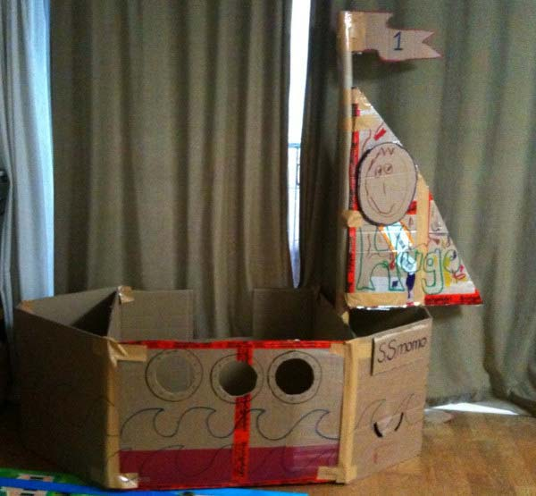 27 Ideas on How to Use Cardboard Boxes for Kids Games and Activities DIY Projects homesthetics diy cardboard projects (14)