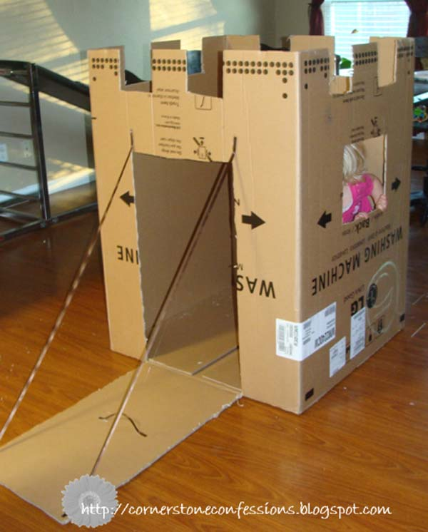 27 Ideas on How to Use Cardboard Boxes for Kids Games and Activities DIY Projects homesthetics diy cardboard projects (20)