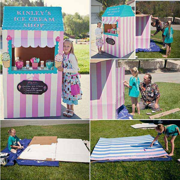 27 Ideas on How to Use Cardboard Boxes for Kids Games and Activities DIY Projects homesthetics diy cardboard projects (23)