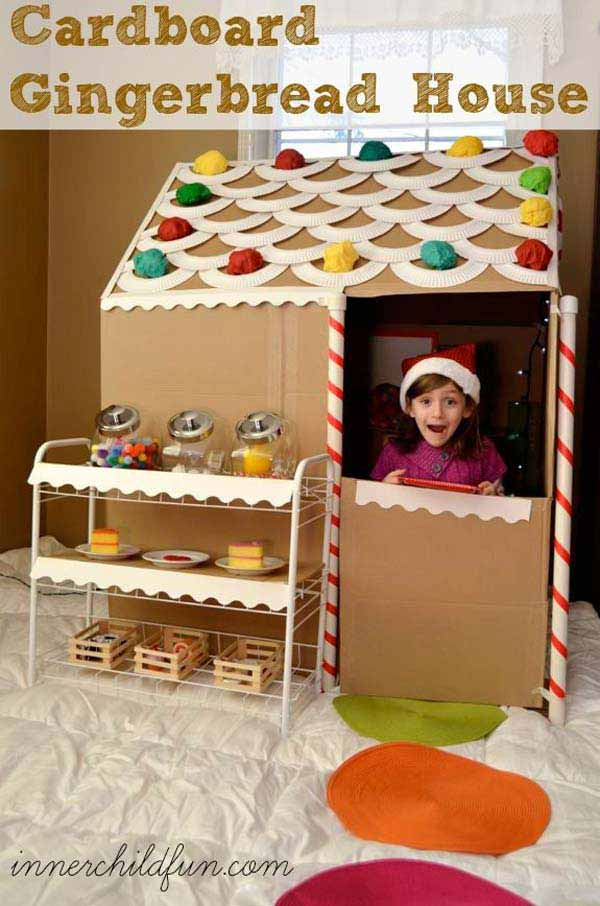 27 Ideas on How to Use Cardboard Boxes for Kids Games and Activities DIY Projects homesthetics diy cardboard projects (30)