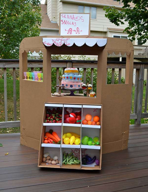 27 Ideas on How to Use Cardboard Boxes for Kids Games and Activities DIY Projects homesthetics diy cardboard projects (4)