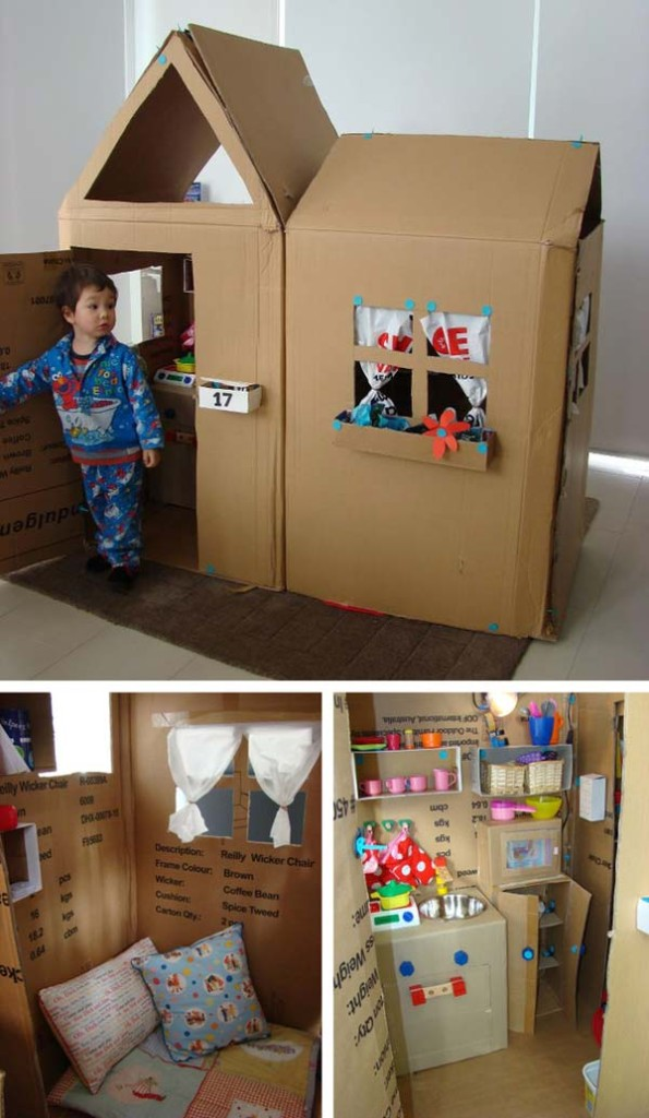 27 Ideas on How to Use Cardboard Boxes for Kids Games and Activities DIY Projects homesthetics diy cardboard projects (9)