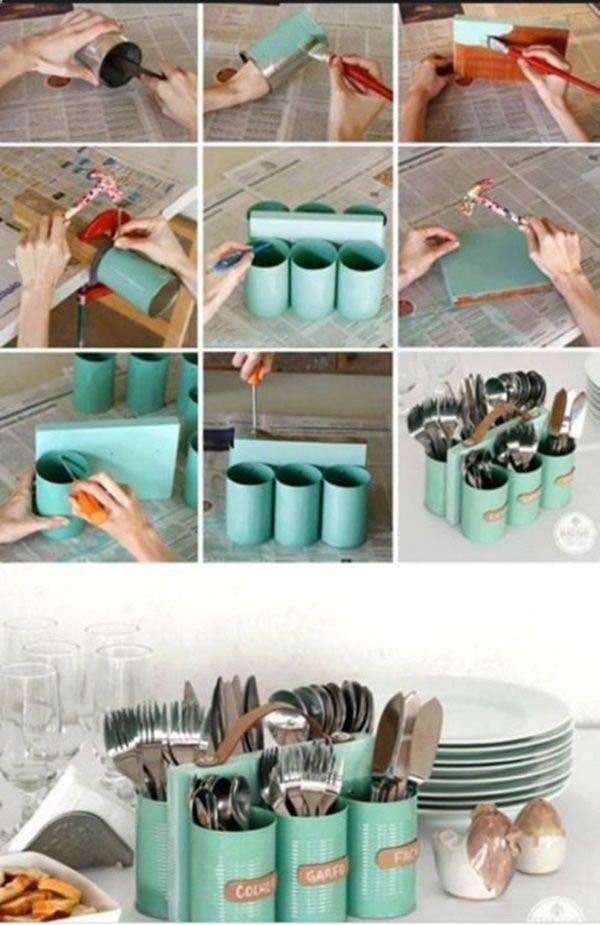 27 Ingenious DIY Cutlery Storage Solution Projects That Will Declutter Your Kitchen homesthetics storage ideas (11)