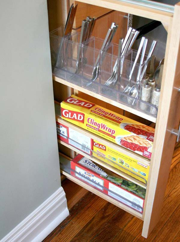 27 Ingenious DIY Cutlery Storage Solution Projects That Will Declutter Your Kitchen homesthetics storage ideas (19)