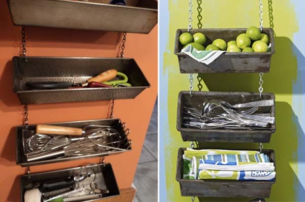 27 Ingenious DIY Cutlery Storage Solution Projects That Will Declutter Your Kitchen homesthetics storage ideas (26)
