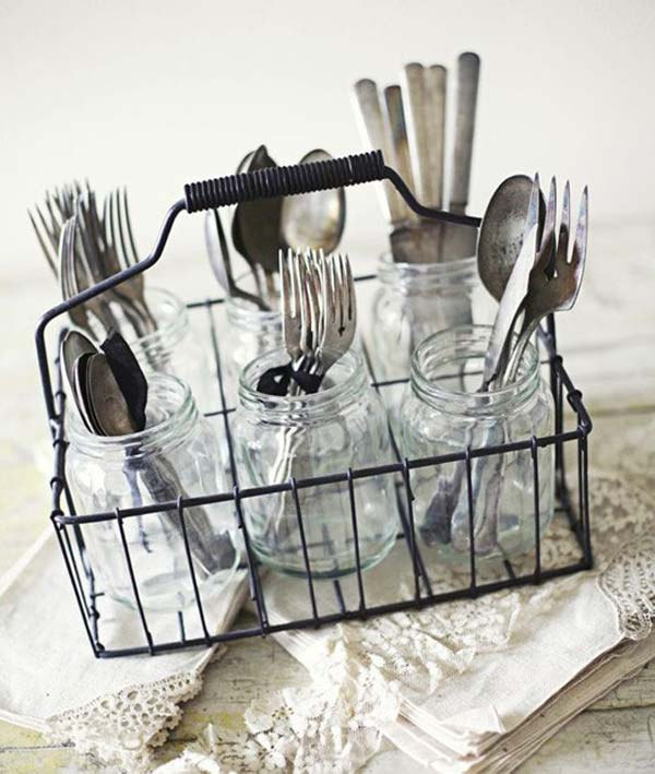 27 Ingenious DIY Cutlery Storage Solution Projects That Will Declutter Your Kitchen homesthetics storage ideas (4)
