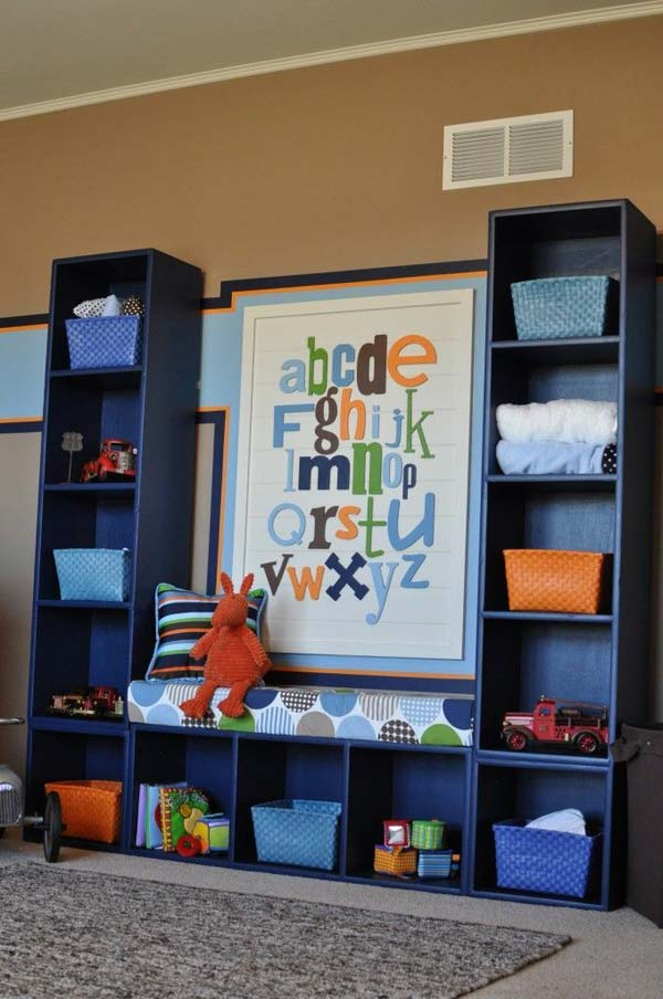 28 Smart Tips Tricks and Hacks to Organize Your Child's Room Beautifully homesthetics decor (24)