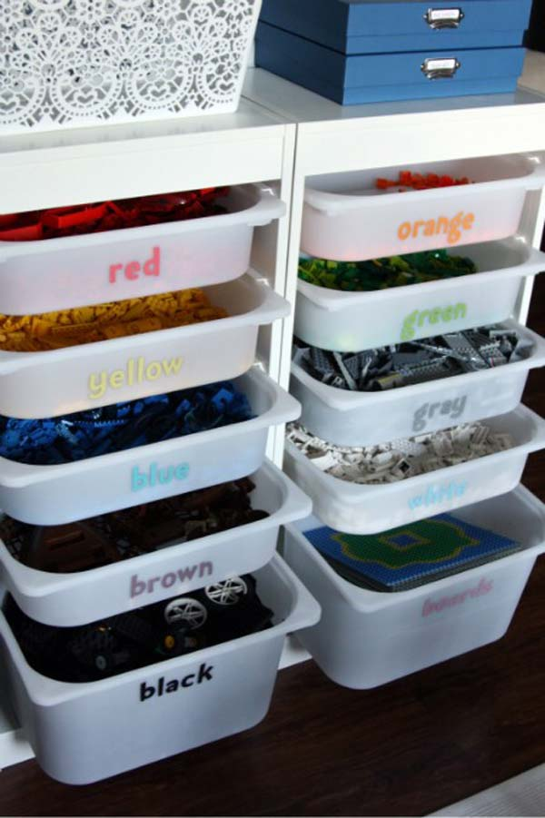 28 Smart Tips Tricks and Hacks to Organize Your Child's Room Beautifully homesthetics decor (9)
