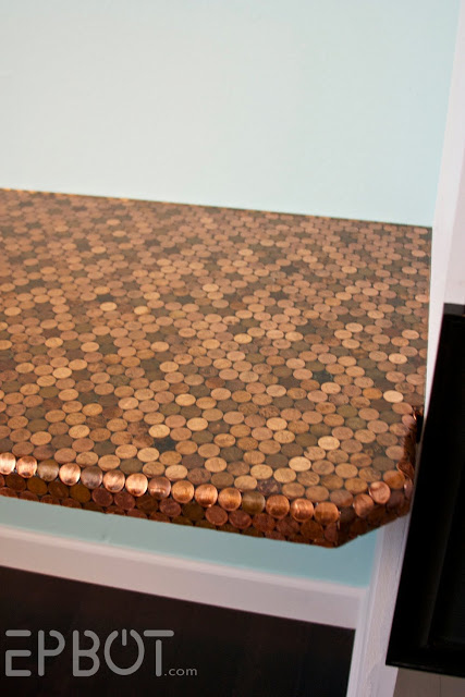 35 Extraordinary Beautiful DIY Penny Projects With a Shinny Copper Vibe homesthetics decor (20)