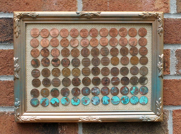 35 Extraordinary Beautiful DIY Penny Projects With a Shinny Copper Vibe homesthetics decor (8)