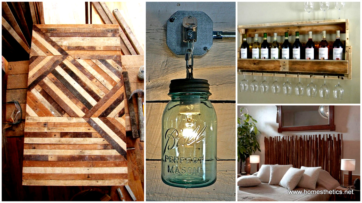 40 Rustic Home Decor Ideas You Can Build Yourself: 40 Of The Most Extraordinary Beautiful And Useful Rustic