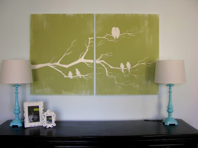 Beautiful Methods of Covering Your Blank Walls- DIY Wall Art Projects-homesthetics.net (8)