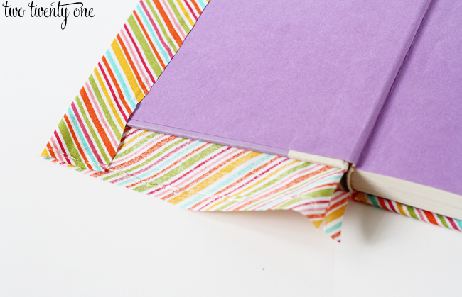 How To Make A Fabric Book Cover ~ Diy cheap and creative fabric covered books