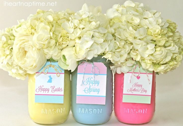 DIY Easter Mason Jars Crafts Homesthetics 10