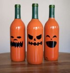Halloween wine bottle paint