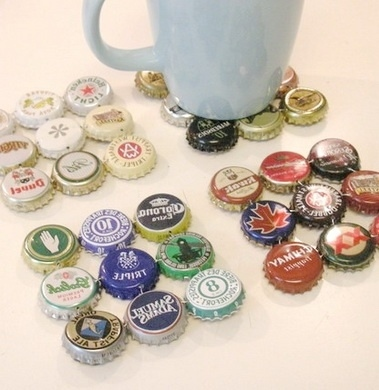 super bottle cap art diy coasters