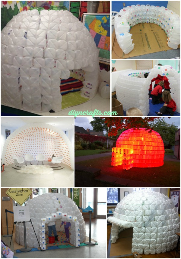 How to Build a Milk Jug Igloo And Sustain The Recycling Movement-homesthetics (1)