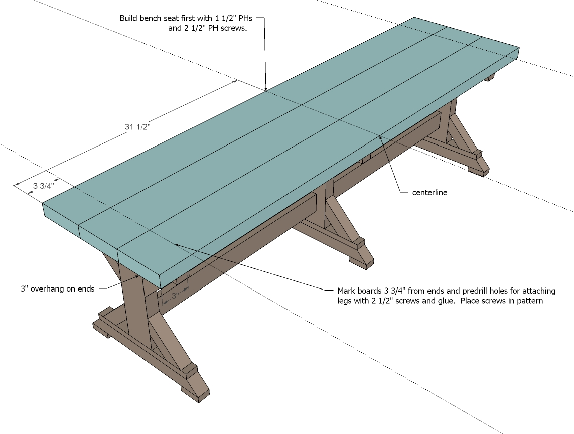 Simply breathtaking 20 diy farmhouse bench tutorial that you will simple wooden seat boards as shown in the diagram will now follow pooptronica