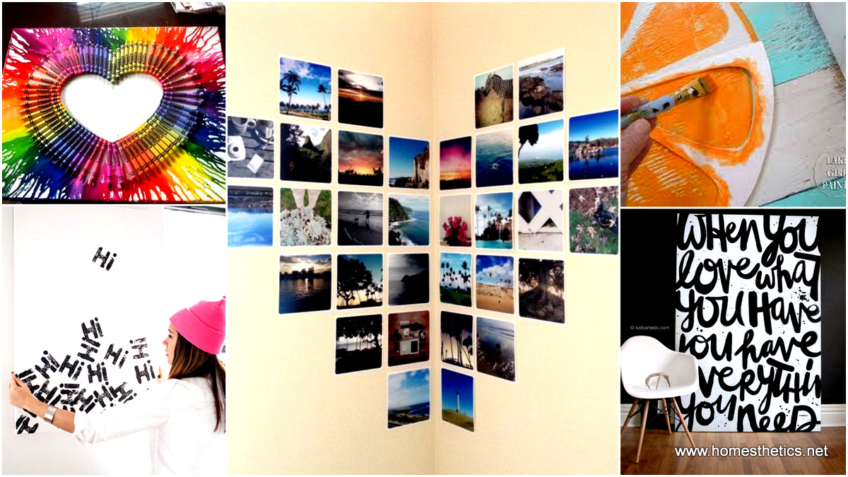 70 methods of beautifying your blank walls diy wall art for Diy room decor ideas you never thought of