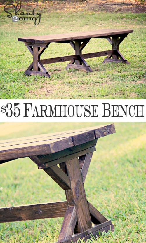 mply Breathtaking 20$ DIY Farmhouse Bench Tutorial That You Will Want to Start Right Away-homesthetics.net (3)