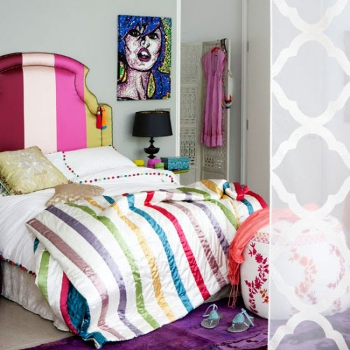 18 Colorful Headboard Designs That Will Beautify Your Bedroom homesthetics decor (18)