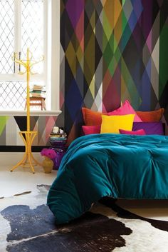18 Colorful Headboard Designs That Will Beautify Your Bedroom homesthetics decor (3)