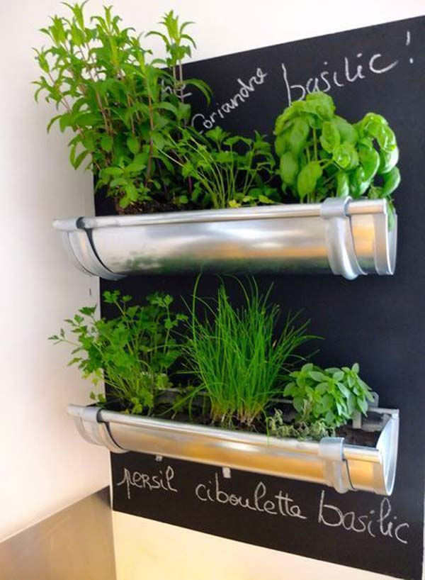23 Extraordinary Beautiful Ways To Repurpose Rain Gutters
