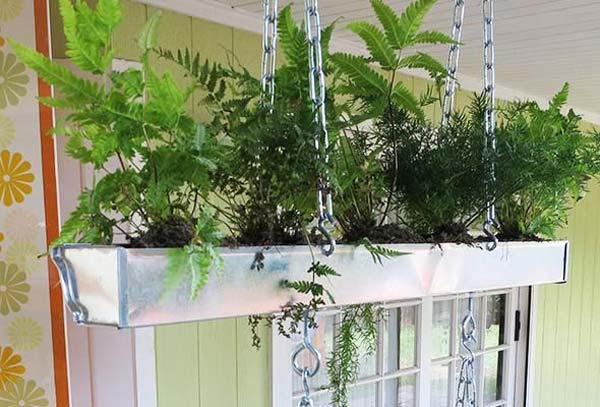 23 Extraordinary Beautiful Ways to Repurpose Rain Gutters in Your Household homesthetics diy projects (24)
