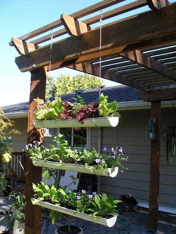 23 Extraordinary Beautiful Ways to Repurpose Rain Gutters in Your Household homesthetics diy projects (6)