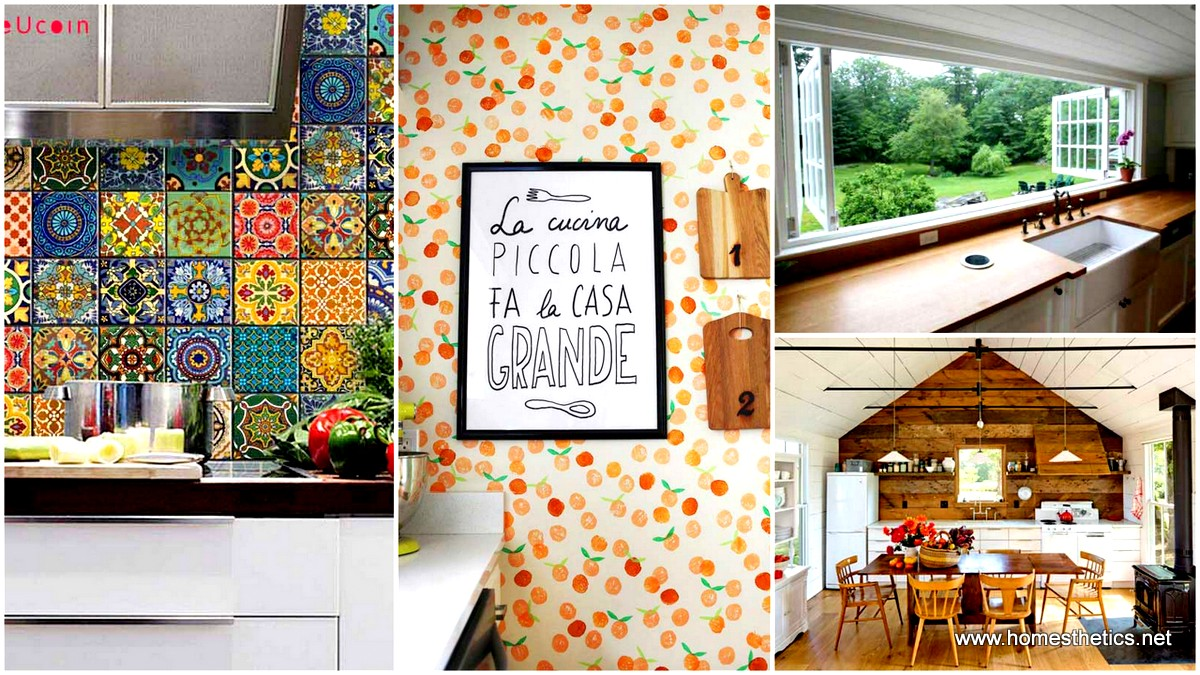 24 decoration ideas that will transform your kitchen walls - Ideas for decorating kitchen walls ...