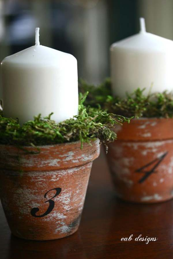 26 Beautiful Simple and Inexpensive Garden Projects Realized With Clay Pots homesthetics decor ideas (22)
