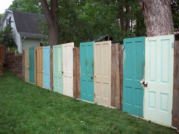 15.OLD DOORS REUSED AS A FENCE