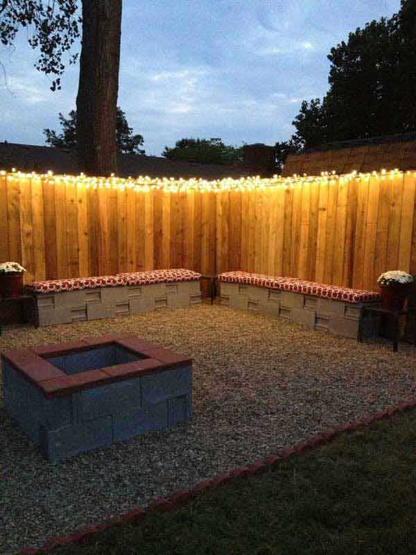 23.RECLAIMED WOODEN FENCE ANIMATED BY STRING LIGHTS