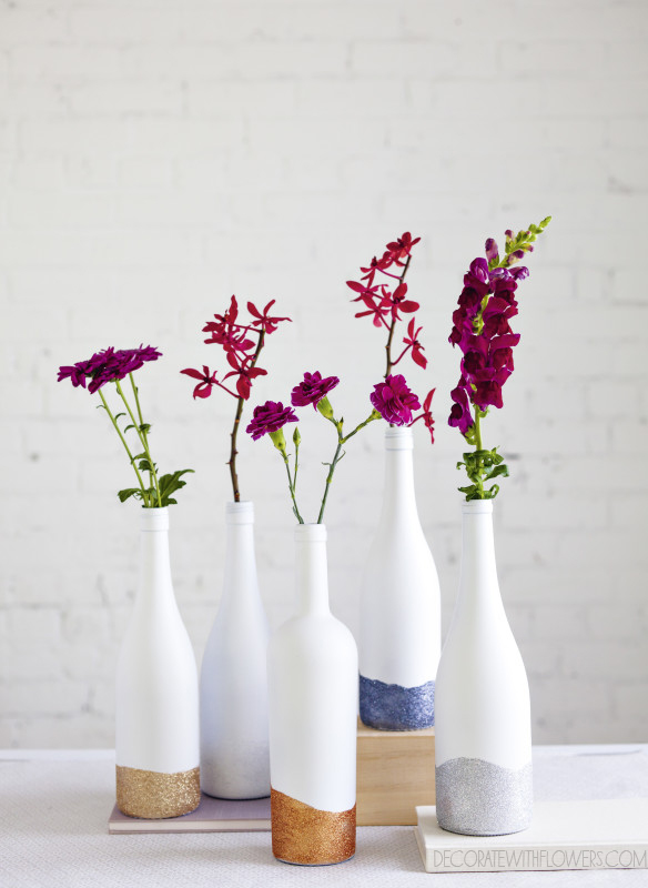 26 Wine Bottle Crafts To Surprise Your Guests Beautifully homeshetics decor (21)